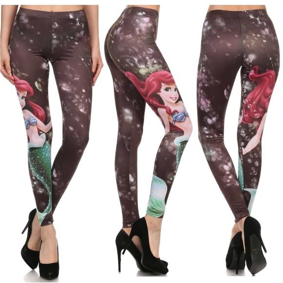c4a978af50ebc6 Disney Pants | Ariel The Little Mermaid Leggings | Poshmark